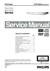 Manual de servicio Philips DVP720SA
