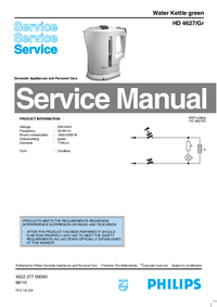 Servicehandboek Philips HD 4627