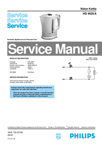 Servicehandboek Philips HD 4629/A