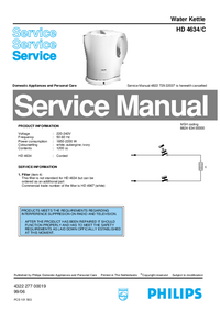 Manual de servicio Philips HD 4634/C