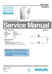 Manuale di servizio Philips HD 4634/C
