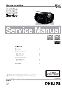 Service Manual Philips AZ382