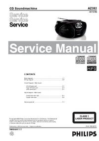 Servicehandboek Philips AZ382