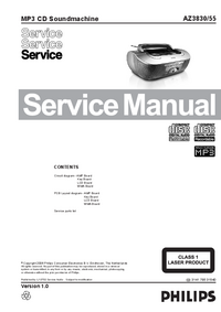Manual de servicio Philips AZ3830/55