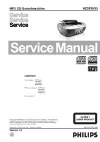 manuel de réparation Philips AZ3830/55