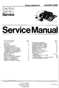 Manuale di servizio Philips G90B