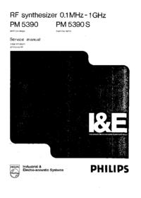 Manuale di servizio Philips PM 5390