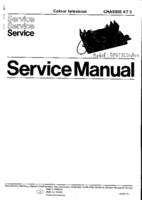 Service Manual Philips KT3
