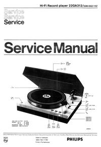 Service Manual Philips 22 GA 312 00Z