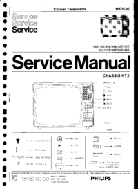 Service Manual Philips 18C636 95Z