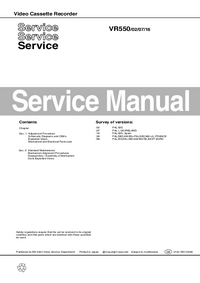 Manual de servicio Philips VR550 02