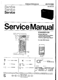 Service Manual Philips 26CS3280 22Z