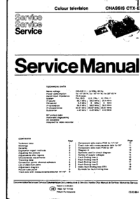 Manual de servicio Philips CTX-E