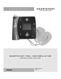 User Manual PhilipsMedical Heartstart FR2+ M3861A