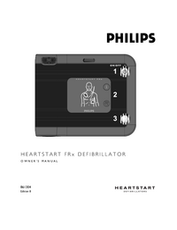 manuel de réparation PhilipsMedical HEARTSTART FRx