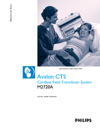 Manual del usuario PhilipsMedical Avalon CTS M2720A
