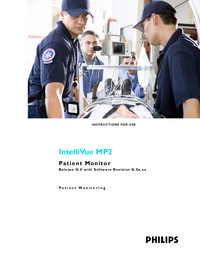 Manual del usuario PhilipsMedical IntelliVue MP2