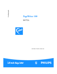 User Manual PhilipsMedical PageWriter 100 M1772A