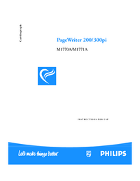 Manual del usuario PhilipsMedical PageWriter 300pi M1771A