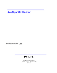 User Manual PhilipsMedical SureSigns VS1