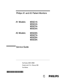 Service Manual PhilipsMedical A1 M3922A