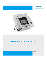 User Manual PhilipsMedical Heartstart XLT M3500B