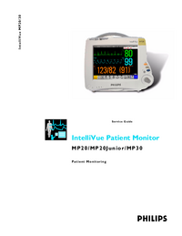 Servicehandboek PhilipsMedical IntelliVue MP20 Junior