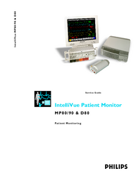 Manual de servicio PhilipsMedical IntelliVue MP80