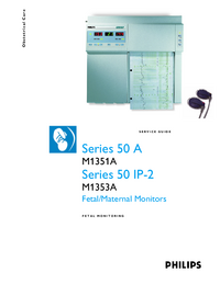 Service Manual PhilipsMedical Series 50 A M1351A