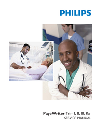Manuale di servizio PhilipsMedical PageWriter Trim Rx