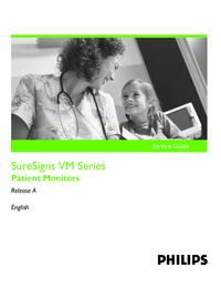 Manuale di servizio PhilipsMedical SureSigns VM Series