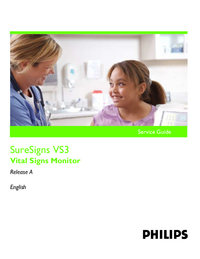 Manual de serviço PhilipsMedical SureSigns VS3