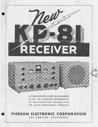 Serviço e Manual do Usuário Pierson KP-81