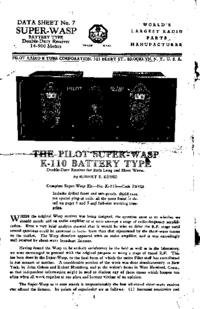 Manual del usuario Pilot Super WASP K-110