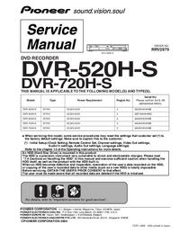 Service Manual Pioneer DVR-520H-S