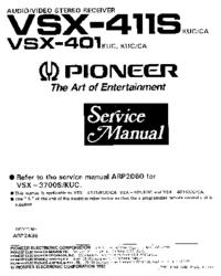 Instrukcja serwisowa Pioneer VSX-401 KUC