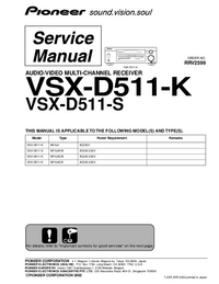 Serviceanleitung Pioneer VSX-D511-K