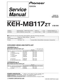 Manual de serviço Pioneer KEH-M8117ZT X1B/EW