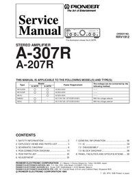 Manual de servicio Pioneer A-307R STEREO AMPLIFIER