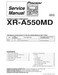 Manual de servicio Pioneer XR-A550MD