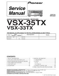 Service Manual Pioneer VSX-33TX