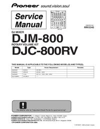 Gebruikershandleiding Pioneer DJM-800