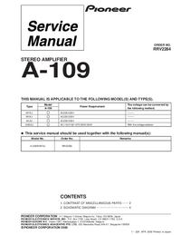 Service Manual Pioneer A-109