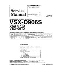 Service Manual Pioneer VSX-D906S