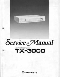 Service Manual Pioneer TX-3000