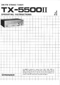 Gebruikershandleiding Pioneer TX-5500II