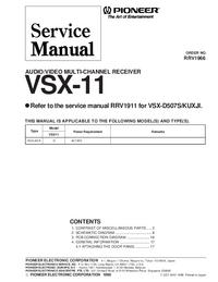 Service Manual Pioneer VSX-11