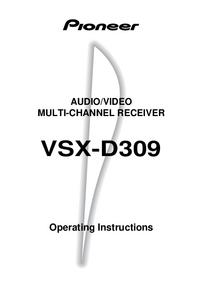 Руководство пользователя Pioneer VSX-D309