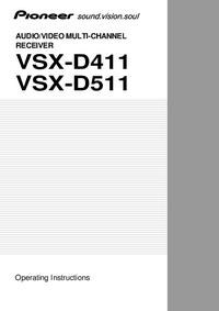 Руководство пользователя Pioneer VSX-D411