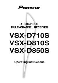 User Manual Pioneer VSX-D710S